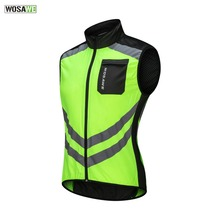 WOSAWE High Visibility Reflective Vest Motocross Off-Road Racing Night Riding Jacket Running motorcycle Cycling Safety