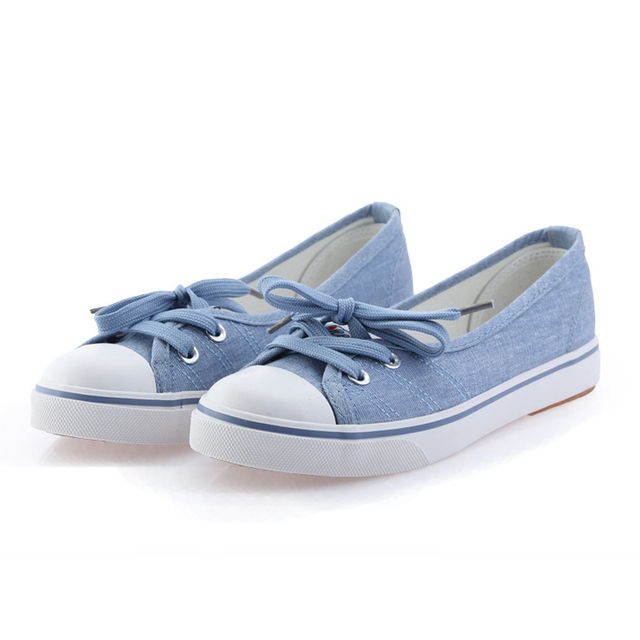 Spring light canvas shoes women shoes slip-on Korean tide students set foot pedal flat shoes