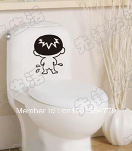 Toilet Stickers Bathroom Stickers Glass Stickers Home Improvement  Decoration Baby Pee In Wall Stickers From Home U0026 Garden On Aliexpress.com |  Alibaba Group