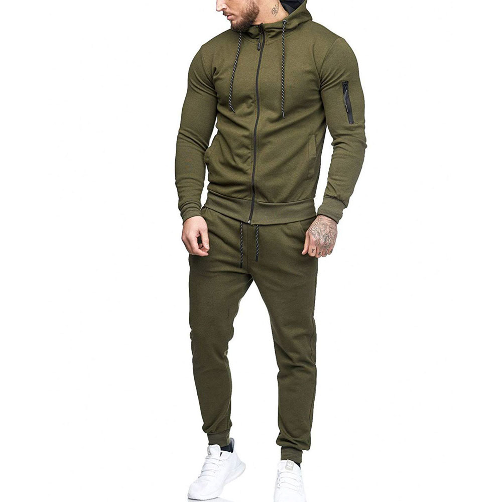 Suit Men's Sport Running Suits Running Compression Homme Gym Hoodie Training Running Tracksuits Men Gym Clothing