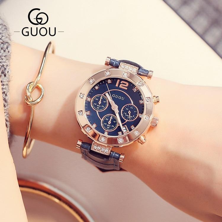 GUOU ρολόι πολυτελείας κυρίες ρολόι - Γυναικεία ρολόγια - Φωτογραφία 3