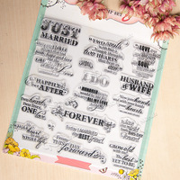 Just Married Clear Silicone Stamp For DIY Scrapbooking Photo Album Decorative Craft