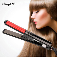 Professional LCD Display Hair Straightener Floating Ceramic Plate Fast Heating Straightening Irons Styling Tools 100 240V