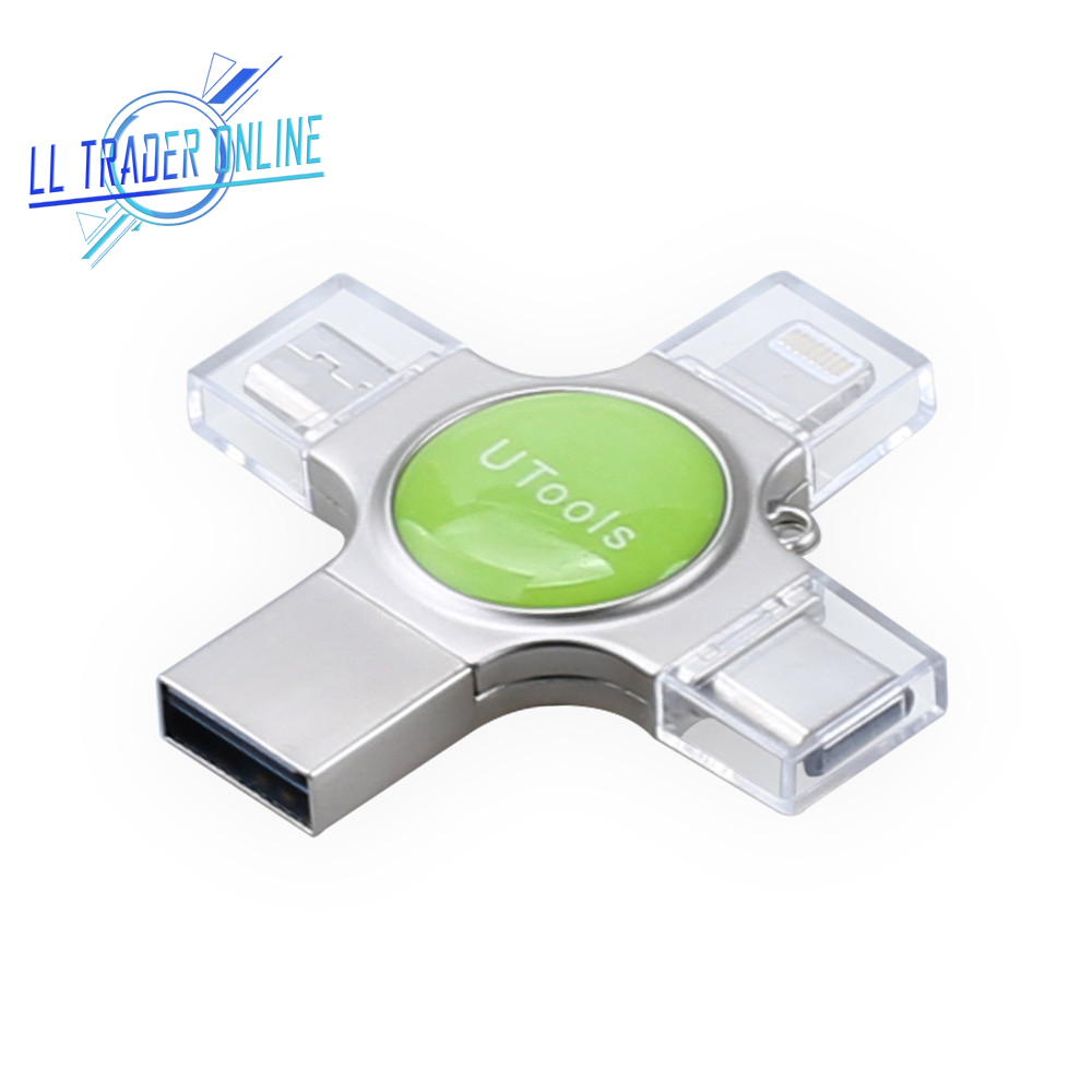 LL TRADER 5PCS 64GB OTG Pen drive 4 in 1 USB Flash Memory Storage Disk For