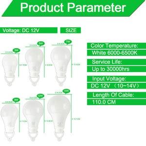Image 4 - Ultra Bright Portable Hang Light Lamp With Clip DC 12V LED Bulb 3W 5W 7W 9W 12W 15W Outdoor Party Camp Night Fishing Emergency