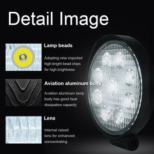 Image 3 - Barra de luces LED de trabajo para Jeep, ATV, UAZ, SUV, 4WD, 4x4, camión, Tractor, todoterreno, 27W, 42W, 48W, haz de Luz brillante, 12v, 24v