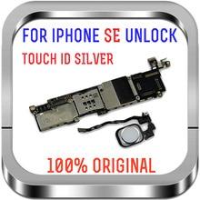 Placa mãe iphone se, 16gb / 32gb / 64gb desbloqueado com placa lógica de impressão digital com/sem identificação de toque