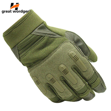 Military Tactical Gloves Mens Hiking Outdoor Sport For Hunting Climbing Cycling Full Finger