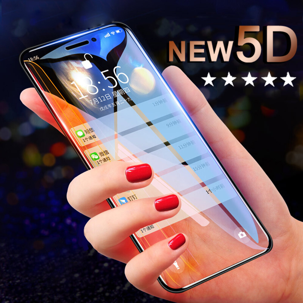 5D Tempered Glass For iPhone X XS Screen Protector Film