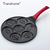 Transhome Frying Pan Non Stick 26cm Wok/Grill Pan Waffles Baking Pan Breakfast Skillet Cookware Kitchen Gadgets Cooking Tools