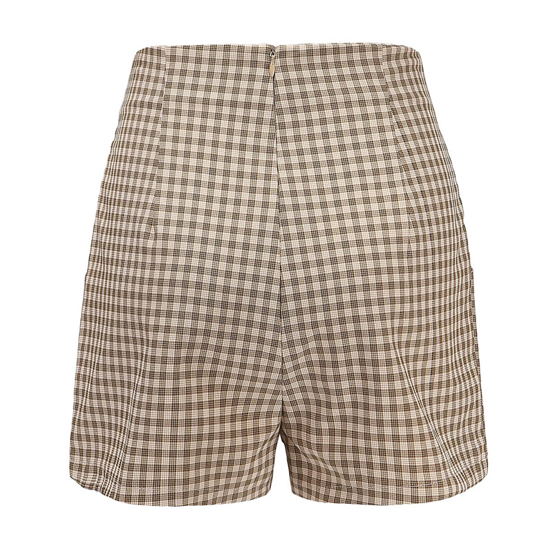 Forefair Women Shorts Plaid Summer (7)