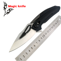 Magic ZT 0999 CF Ball Bearing Folding Knife D2 G10 Steel Carbon Fiber Camping Hunting Survival