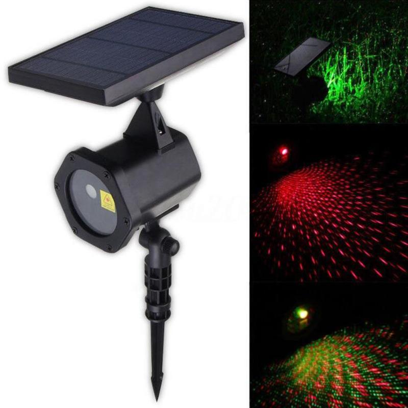 Outdoor Solar Powered LED Laser Lights Christmas Landscape Christmas Projector Lamp Outdoor LED Garden Party Moving
