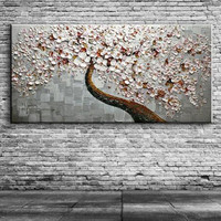 100 Handpainted Knife Flowers Oil Painting On Canvas Modern Abstract Floral Paintings Cheap Wall Art Pictures