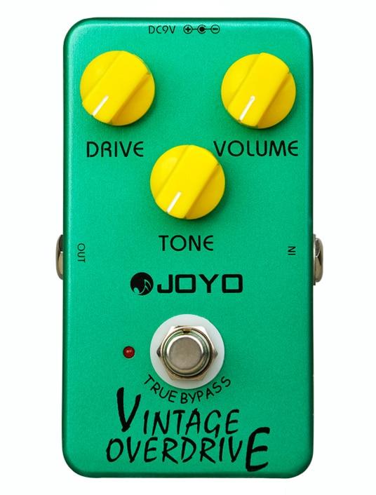 Joyo JF-01 Vintage Overdrive Guitar Effect Pedal True Bypass joyo jf 39 deluxe crunch overdrive guitar pedal effect true bypass red