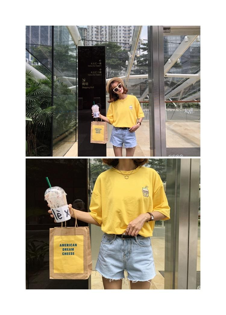 HTB1x2.DKFXXXXa6XVXXq6xXFXXXl - Summer New Cute Banana Milk Embroidered T-shirts PTC 192