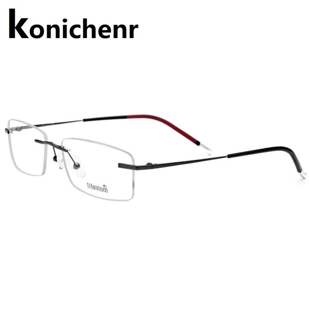 Konichenr montures optiques Prescription lunettes femmes rondes myopie danemark coréen lunettes cadre hommes titane sans vis lunettes