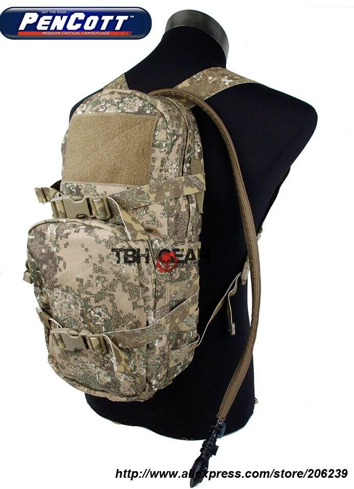 Фотография TMC Modular Assault Pack 3L Hydration Bag PenCott Badlands Pattern With Hydration Bladder+Free shipping(SKU12050048)
