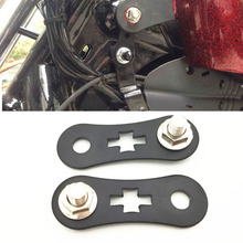 Motorcycle Black Oil Tank Lift Riser 44MM Kits Fit 86-16 For Harley Sportster XL 883 1200 Nightster Iron 48 72 Higher Brackets