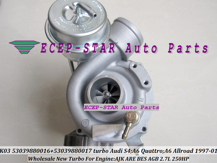 K03 53039880016 53039880017 Turbo Turbocharger for Audi S4 A6 Quattro A6 Allroad 1997-01 AJK ARE BES AGB 2.7L 250HP
