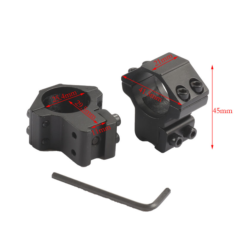 2pcs/pair 25.4mm Scope Mount 11mm Hunting Picatinny Rail Riflescope Airsoft Gun Softair Base Medium Profile Rings Scope Mounts