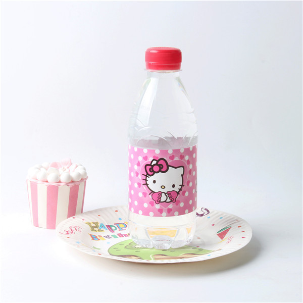 18 pcslot Cartoon Hello Kitty Water Bottle Label Candy Bar