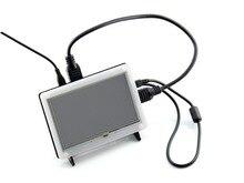 Двухцветный чехол для 5-дюймовый ЖК-дисплей Тип B сочетает в себе Raspberry Pi ЖК-дисплей Дисплей 5 дюймов HDMI ЖК-дисплей (b) и Pi в все-в-одном устройстве