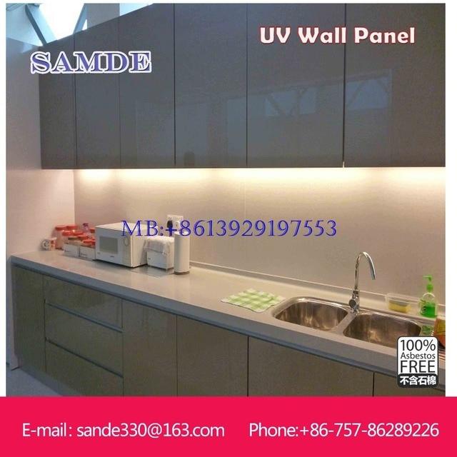 2440 1220 6mm Sheet Decorative Kitchen Wall Panels Fireproof Waterproof Material