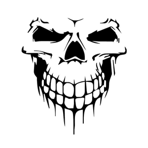Image 3 - Large Size 40x36CM Skull Head Car Stickers and Decals Reflective Vinyl Car Styling Auto Engine Hood Door Window Car Decal