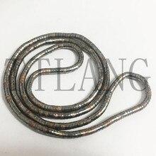 Fabricación 5mm 90 cm de cobre y arma Chapado en negro de hierro Flexible serpiente collar 10 unids/pack