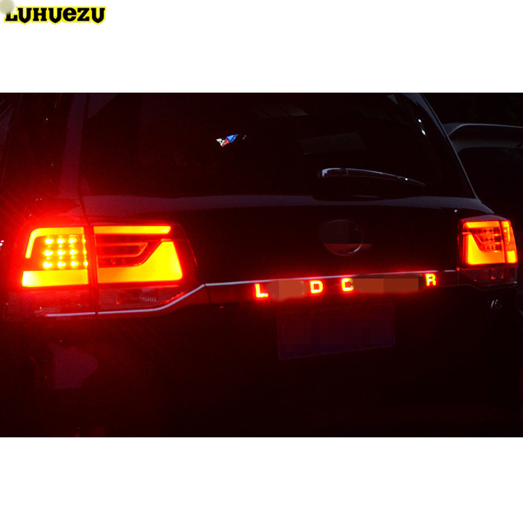 цена на Luhuezu Door Cover Rear Trunk Lid Cover With Led Light Styling Cover For Toyota Land Cruiser 200 LC200 Accessories 2016 20172018