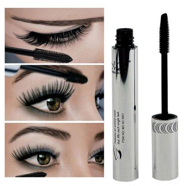 Pestañas de maquillaje impermeable pestañas largas negro de silicona cepillo cabeza máscara sombra de ojos brochas maquillaje profesional pinceaux #7