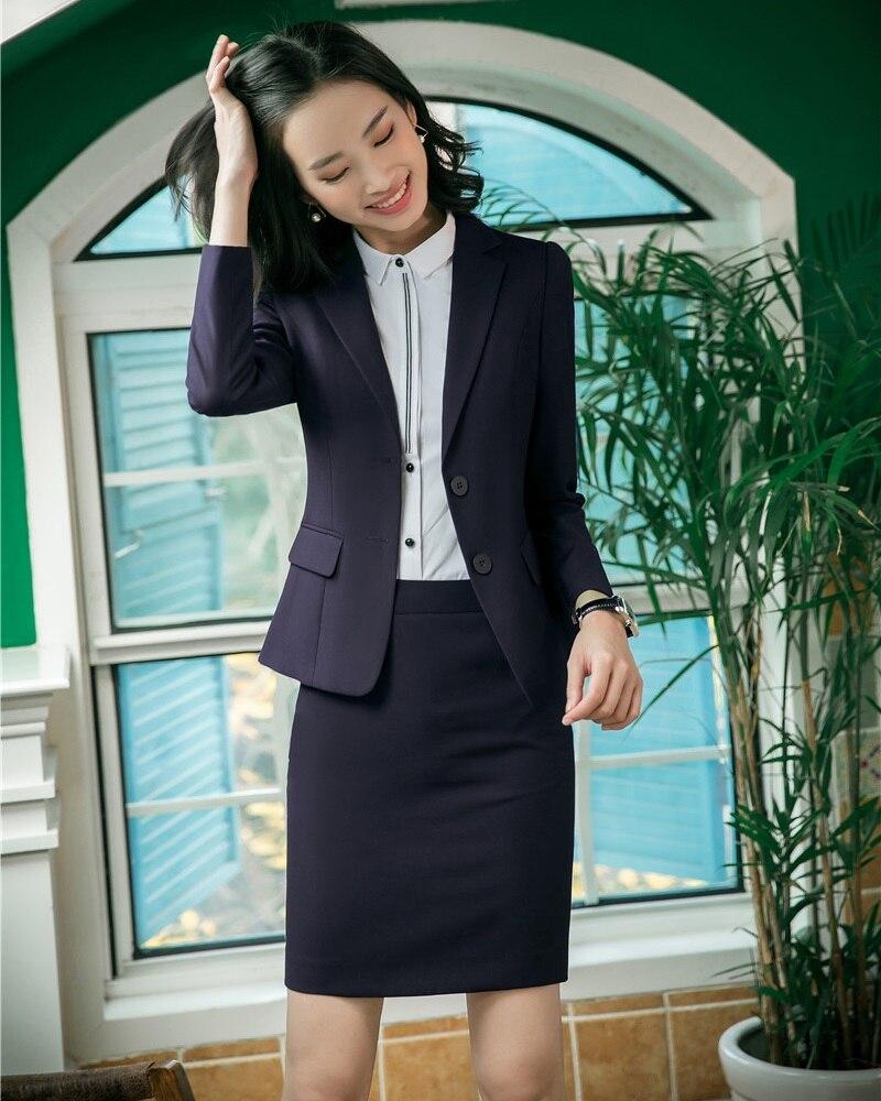 Formale Weibliche Rock Anzüge für Frauen Anzüge Schwarz Blazer und Jacke Sets Damen Arbeit Tragen Büro Uniform Styles