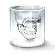 Christmas Gilft Crystal Skull Head Wine Mug Beer Glasses Drinking Ware Home Bar Vodka Whiskey Shot Glass Cup
