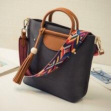 Taschen frauen handtasche umhängetasche große tasche kurze frauen quaste handtasche mode-farbblock umhängetasche