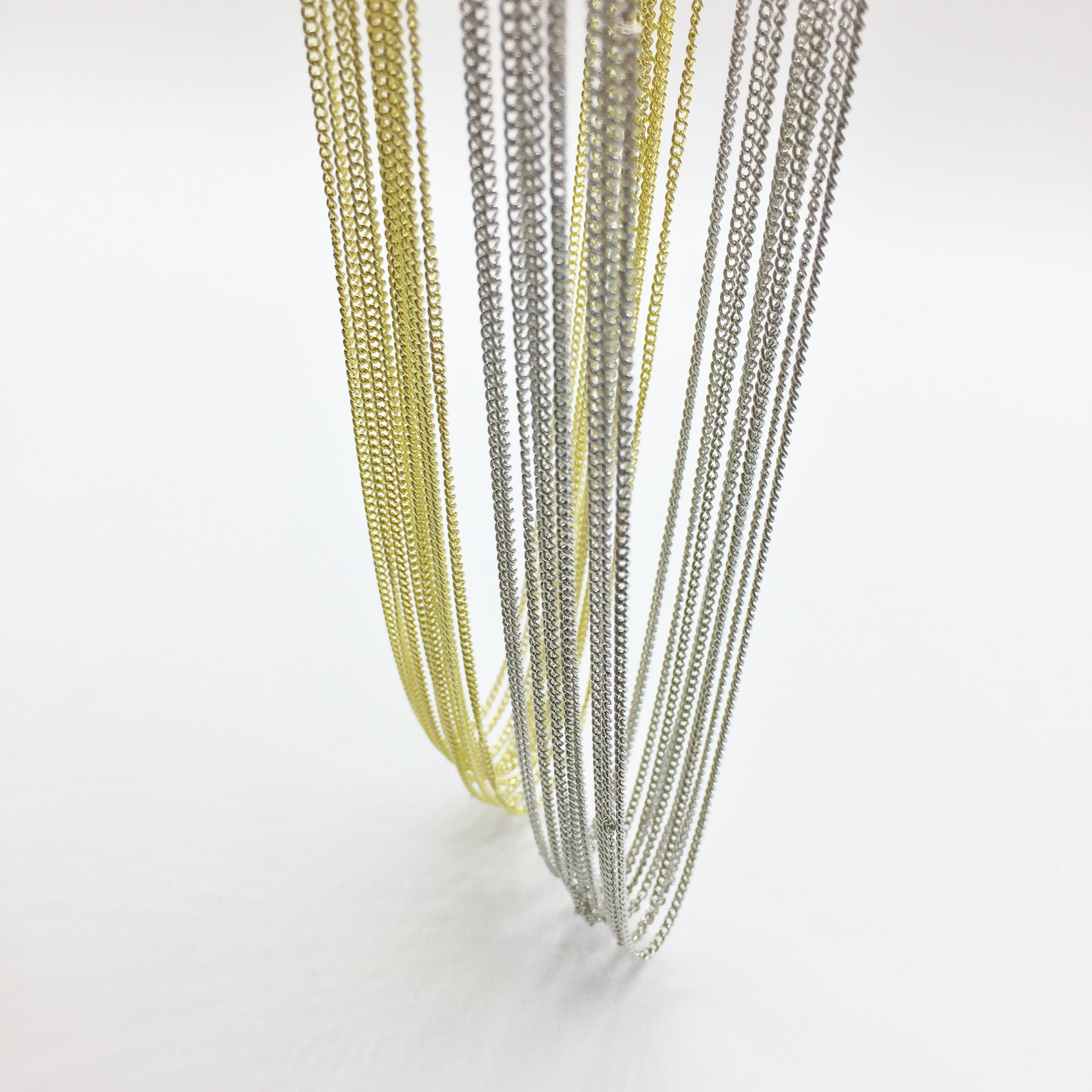Eruifa 10pcs 45cm Twisted Tiny Chain With 6cm Ext Chain Jewelry Link DIY Finding  Necklace,2 Colors Nickle Free And Lead Free