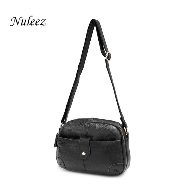 8cc332f805c0 Nuleez Genuine Leather Mini Handbag Small Crossbody Bag For Women Real  Leather Handle Bags Red Black Messenger Bags Summer 5101