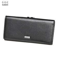 Wallet Women Cards Holders Real Genuine Leather Long Clutch Browm Women Wallets and Purses Portefeuille Femme Carteira Masculina