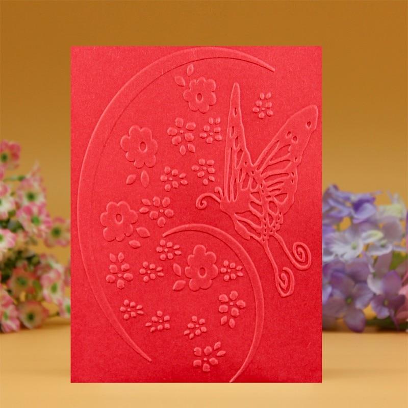 Diy Scrapbooking Card Making Plastic Embossing Folder Flower