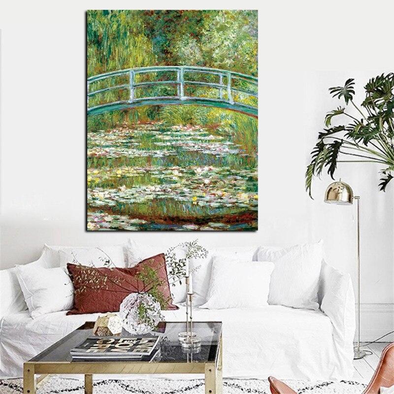 Baskı Claude Monet nilüferler ve japon gelin tuval üzerine yağlıboya sanat posterleri duvar resmi empresyonist oturma odası için