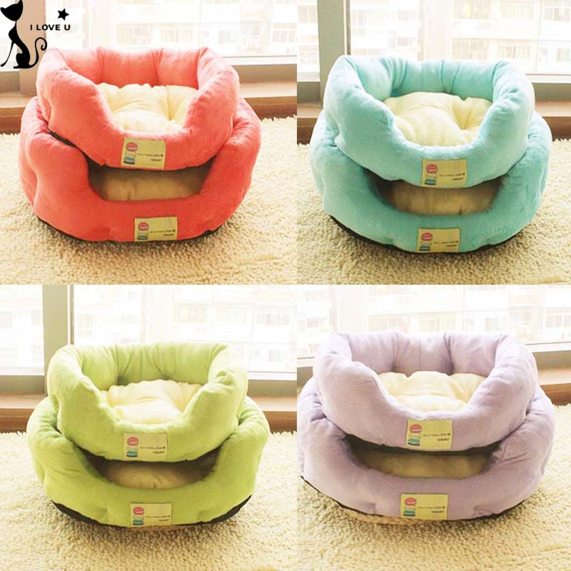 Soft Warm Pet Dog Cat Bed Puppy Kennel Sofa Pet Mats For Small Dogs Winter Cheap Chihuahua House 4 Colors Size S M L 138