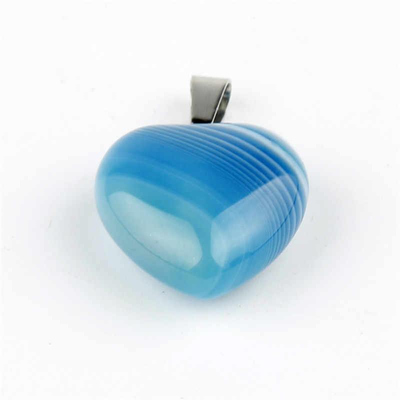 Assorted Natural stone Heart Pendants Pendulum Crystal Opalite Chakra Healing Crystal Reiki Beads Free shipping