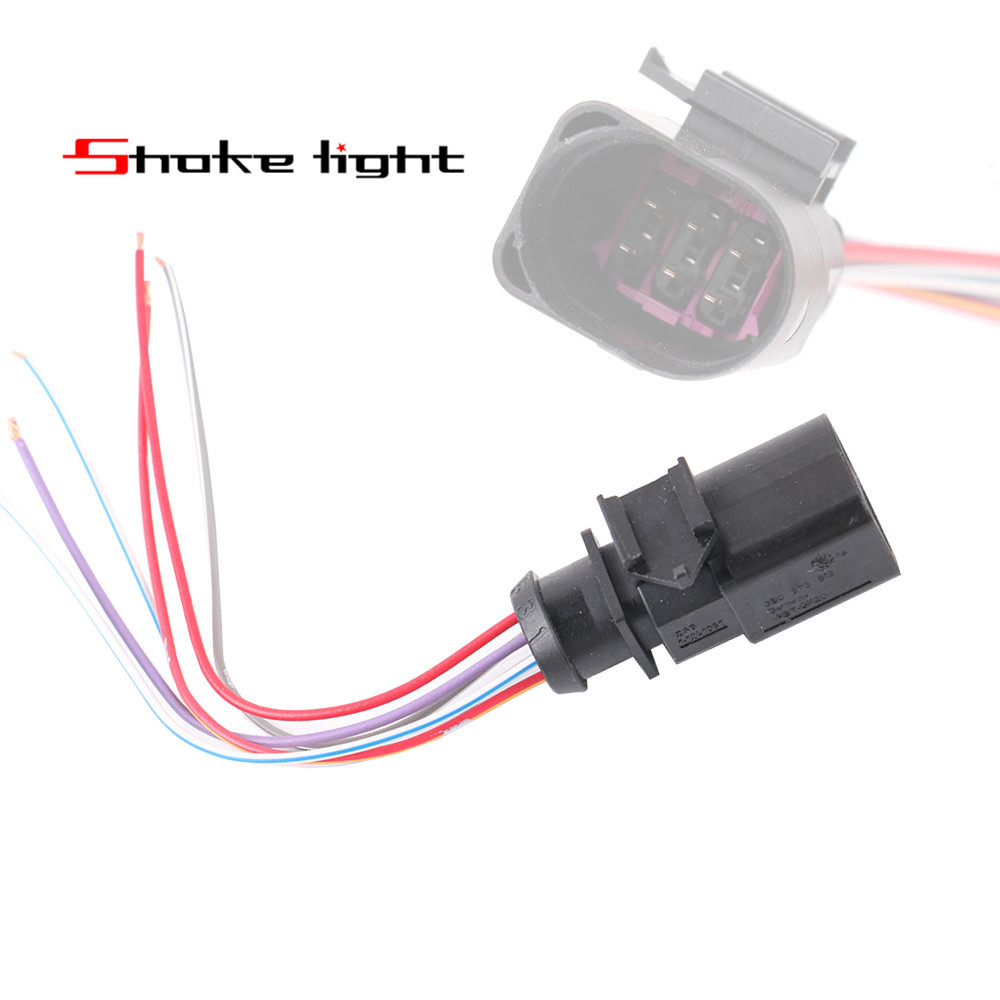 New Oe 6-way 6 PIN Connector Plug Wire Pigtail for VW AUDI A3 A4 A5 A6 A7 A8 Q3 Q5 Q7 RS3 RS4 RS6 Skoda 3B0973813 3B0 973 813