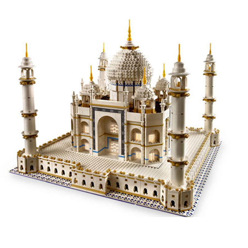 Fit For 10189 IN STOCK DHL LEPIN 17001 5952pcs City Street The Taj Mahal Model Set Building Kits Blocks Bricks Christmas Gift ynynoo lepin 02043 stucke city series airport terminal modell bausteine set ziegel spielzeug fur kinder geschenk junge spielzeug