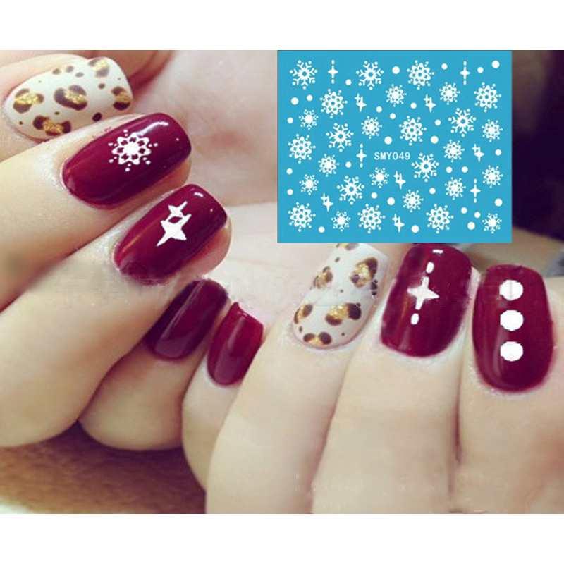 Fashion Snowflakes Snowman 3d Nail Art Stickers Decals Girl