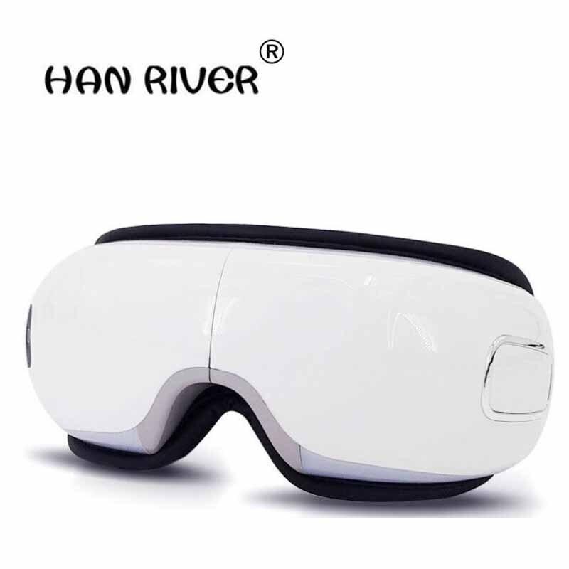 HANRIVER instrument de massage des yeux protecteur des yeux myopie atténue la fatigue masque pour les yeux compresse chaude lunettes appareil de massage des yeux