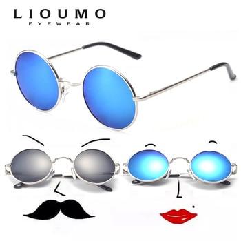 a05e6cd951 Gafas de sol redondas polarizadas con diseño de marca 2019 para hombre,  espejo Retro pequeño