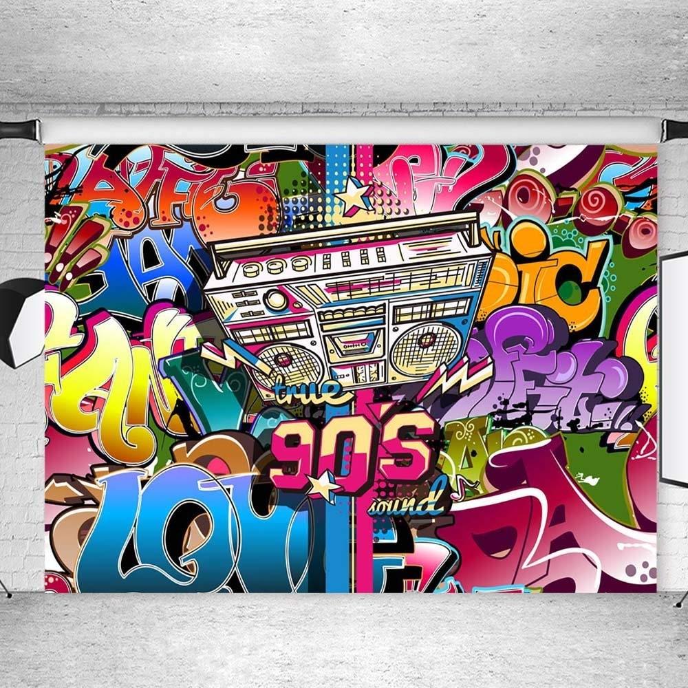 90s hip hop photography background backdrop graffiti wall backdrops for photography teens custom photo studio props kids