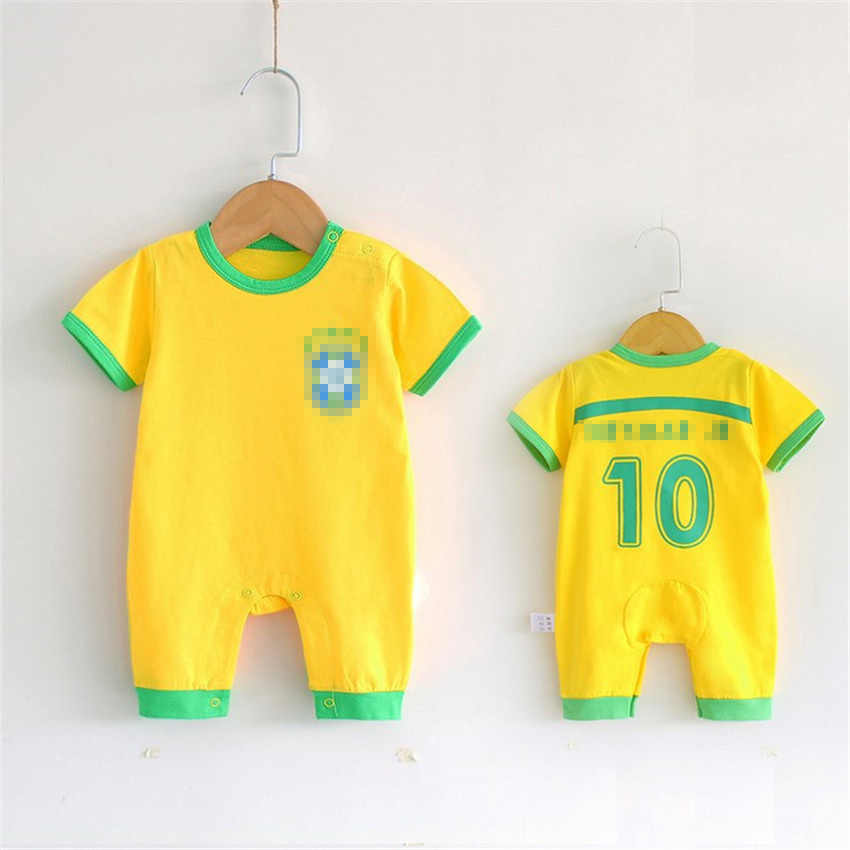 4f8a47e5fe1 ... 2018 Infant Baby Clothing Set Short Sleeve Romper for Children Sports  Suits Soccer Jerseys Football Uniform ...
