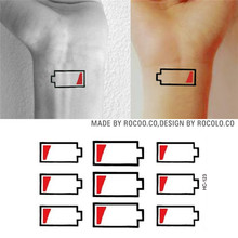 HC1123 Waterproof Temporary Tattoo Stickers Mobile Phone Battery No Electricity Prompt Fake Tattoo Body Water Transfer Tattoo